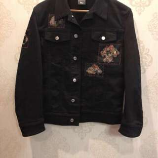 authentic sz48 dior homme 17ss x Toru Kamei denim jacket skeleton flower patch