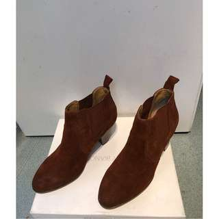 Women's Tony Bianco Brown Suede Ankle Boots Size 7 1/2