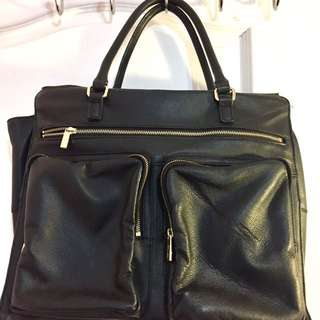 Authentic Danier Leather Business And Laptop Bag