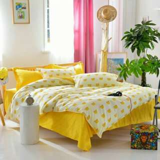 Free postage !! 4-In-1 Queen Size Fitted Bed Sheets