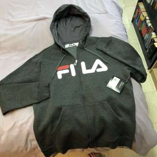 Brand new FILA zip-up Hoodie with tags size large 50$