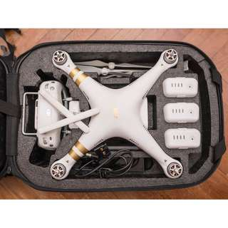 DJI Phantom 3 Professional Drone with 3 Batteries + 64GB Memory Card + Protective Bag + Spare Set of Blades