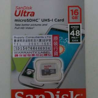 [NEW] SanDisk MicroSDHC UHS-1 Card 16GB