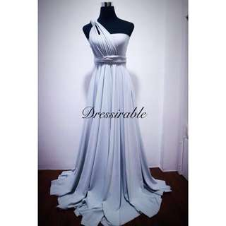 Infinity Long Gown (Light Gray)