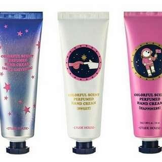 Colorfull scent perfumed hand cream universe 3 pc (set)