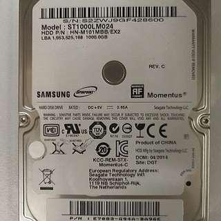 Samsung 2.5吋 hdd 1Tb