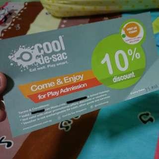 Co de sac 10% discount (2 entry) (Exipry dd. 25/03