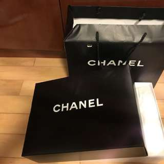 Authentic very new Chanel box with bag