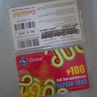 P100 GLOBE LOAD CARD