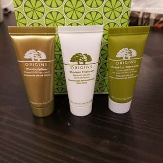 ORIGINS trio skin care samples