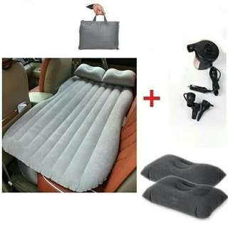 Traveholic Inflatable Car AirBed with 2 Pillow/Pump/Bag