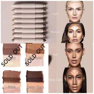 KKW 2PC CONTOUR STICK  AVAILABLE IN DARK & DEEP DARK ONLY