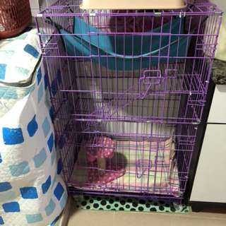 Pre❤️(Used) Cat cage 3 tier Small