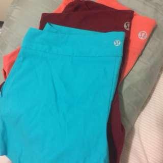 Assortment of Lululemon shorts