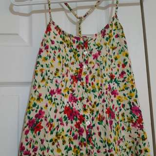 Floral tank top (S)