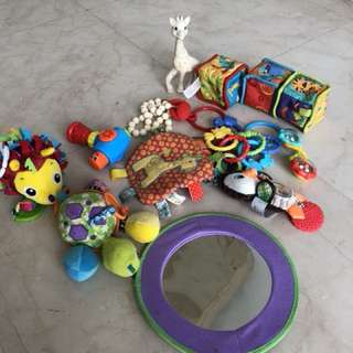 Assorted infant toys