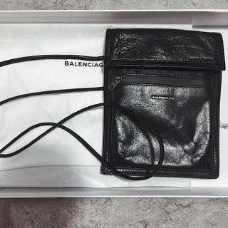 <二手良品> Balenciaga Arena Creased-leather Pouch 全皮腰包 手拿包