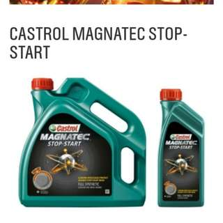 Engine oil castrol fully synthetic 5w30