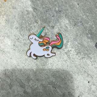 Unicorn enamel pin