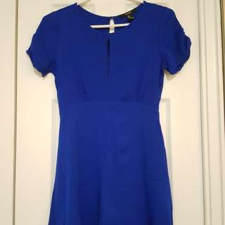 Royal blue dress (S)