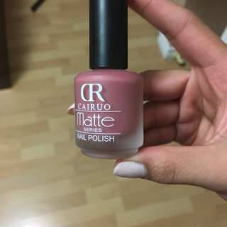 Gorgeous mauve nude matte nail polish