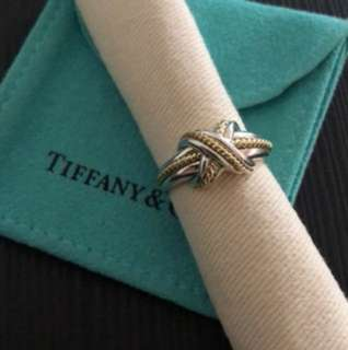 Tiffany & Co Signature silver and 18YG ring