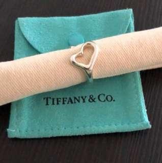 Tiffany & Co open heart silver ring