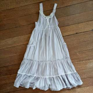 Girls Maxi Dress Grey