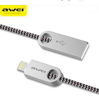 Awei CL-20 Fast charging cable cord for iphone(ios)