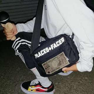 Palace + face glow in dark sling bag
