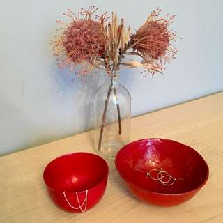 ✨FREE with purchase✨Decorative Red Bowls