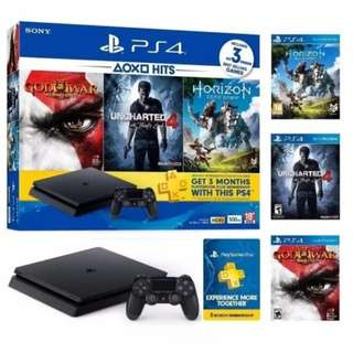 Promotion!!! Brand New Sony PS4 Slim 500GB + 3 Games + Local Warranty + free courier