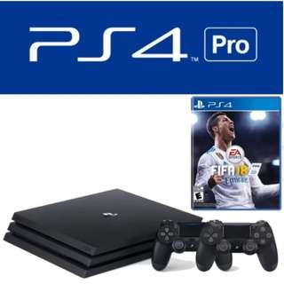 Promotion! Brand New Sony PS4 1TB Pro Console + 2 Controllers + FIFA 18 + warranty + free courier