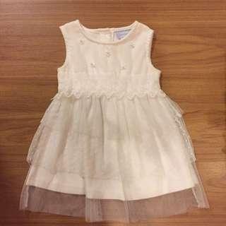 White tutu baby dress