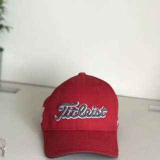 Almost new Titleist Red Youth Golf Cap Hat