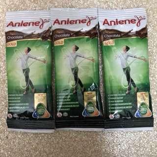 Anelene chocolate milk powder Trial pack