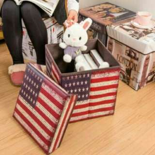 Storage box / tempat simpan majalah, mainan, baju / kursi