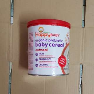 Organics Happy Baby (Probiotic Baby Cereal Oatmeal) 198g