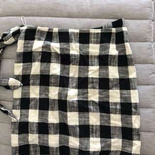 Country road gingham skirt