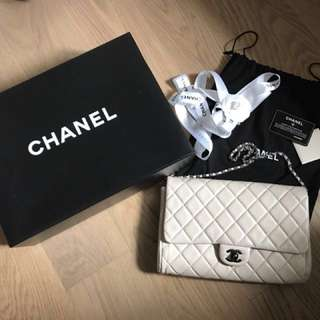 Chanel classic CC logo flap shoulder bag 上膊袋