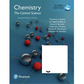 Chemistry The Central Science in SI Units Global Edition 14thEdition