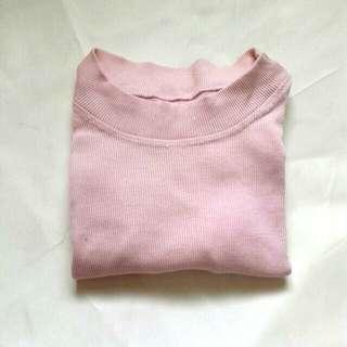 Ribbed Mock Neck Shirt