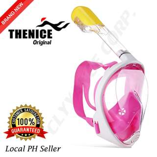 Thenice Full Face Snorkel Mask S/M (Pink)