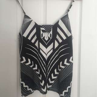 Rise of Dawn Pattern Cami Singlet Top Size S