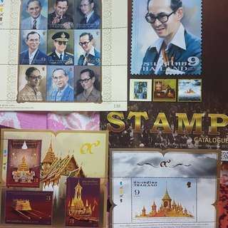 MINT STAMPS Royal Cremation Ceremony of His Majesty King Bhumiboi Adulyadej 26 Oct 2017.