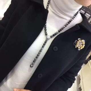 現年底福利特價!!925銀➕8-13mm大溪地黑珍珠毛衣鏈,皮光油亮,近圓,微瑕,主要性價比超高!!!HKD7548(8880)