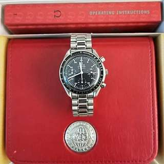 Ω Vintage Omega Speedmaster Automatic Reduced steel on steel, ref 3510.50.00. Cal. 3220. (First owner bought from Taiwan with receipt with box and warranty card)