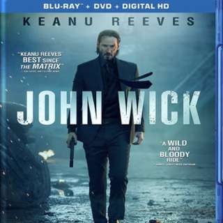 Used John Wick blu ray disc
