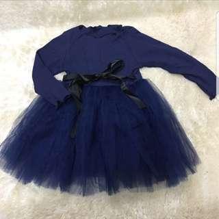 Preloved navy girl dress