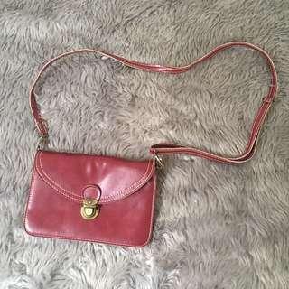 Maroon Satchel Sling Bag